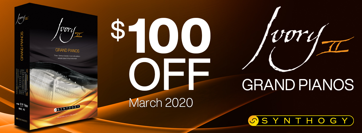 Save $100 on Ivory II-Grand Pianos in March