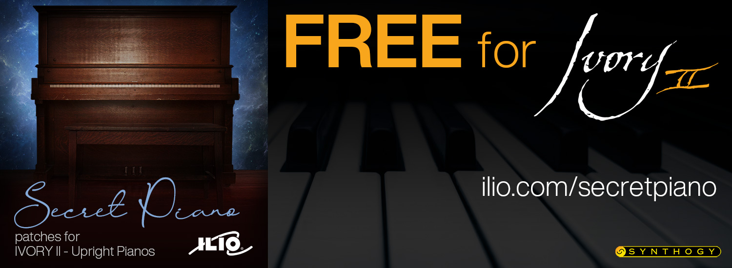 """Secret Piano"" - FREE Patch Collection for Ivory II - Upright Pianos"