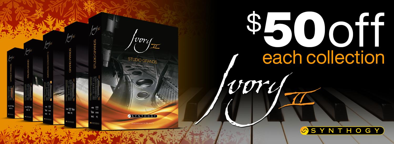 $50 Off Any Ivory II Piano