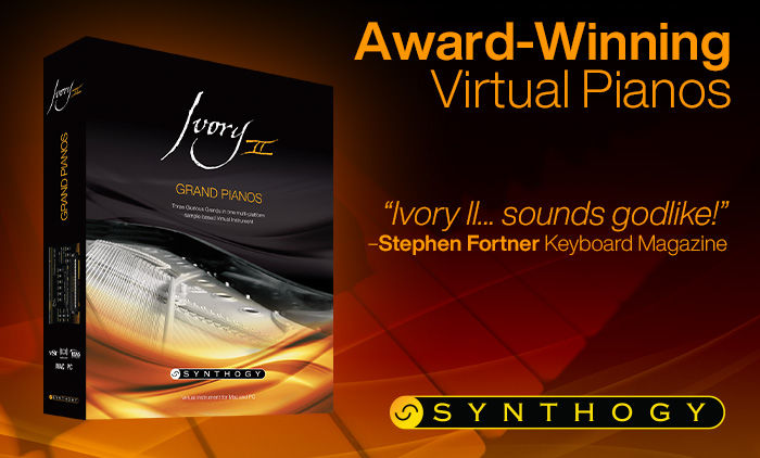 Award Winning Ivory II - Grand Pianos by Synthogy