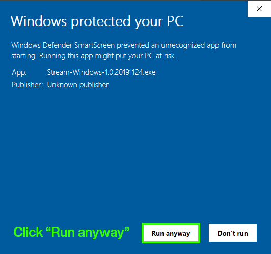 Windows Protected your PC Step II