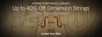 Up to 40% Off Dimension Strings + Free Ponticello Bonus
