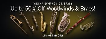 Up to 50% of VSL Woodwinds and Brass in January!